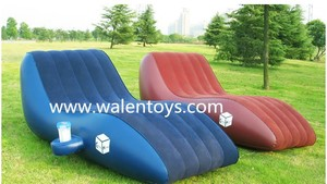 Flocked S Shape Inflatable Sofa Lounge,Inflatable Sofa,Flocking Sofa Chair