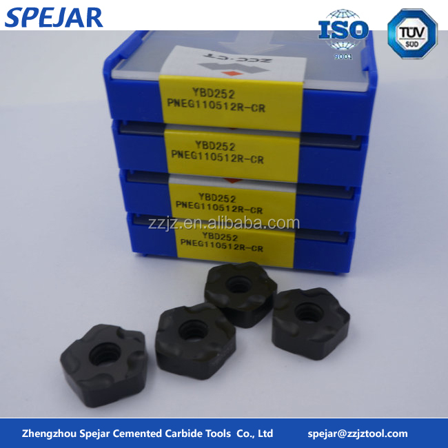 PNEG tungsten carbide indexable cnc milling insert