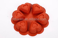 Six Holes Heart Shaped Cake Mould Silicone Mould