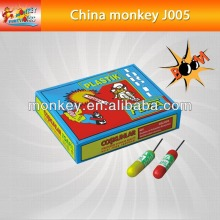 Plastics tube crzay strong sound voice bang bomb cracker for children for new year Fireworks(J005)