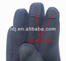 Silver ripstop conductive fabric for motor bike gloves