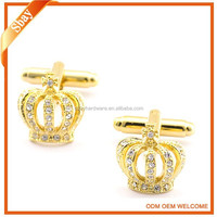 Gold Crown Cufflink For Mens Shirts