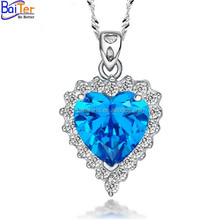 Wholesale women fashion necklace jewelry 925 sterling silver diamond necklace