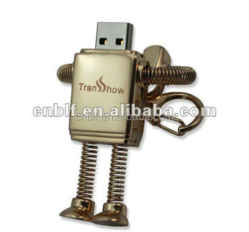 metal robot usb flash drive for wholesale custom