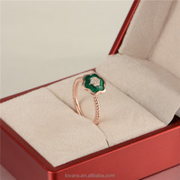 Gold Jewellery Design Emerald Ring Korea Imitation