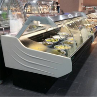 Lintee supermarket fresh food meat commercial deli display fridge showcase
