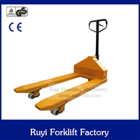 5ton high quality heavy duty Iron/PU wheels hand pallet truck price