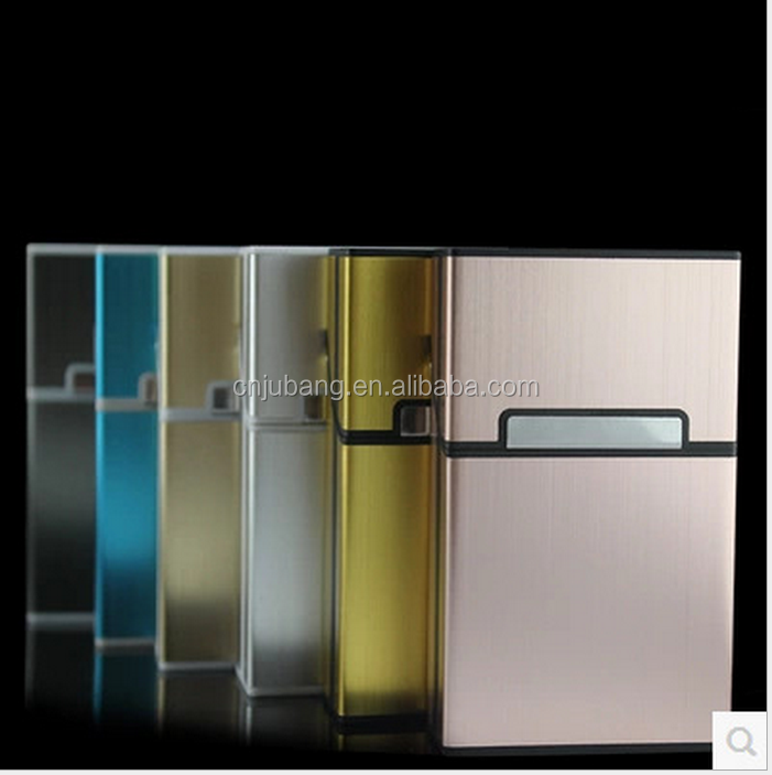 automatic aluminium metal cigarette box / Flip Top Cigarette Case / Tobacco Storage Container