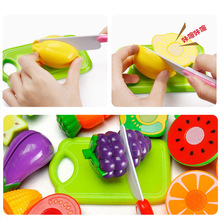 Queena Wholesale 12pcs/set Plastic Kitchen Food Fruit Vegetable Cutting Toys