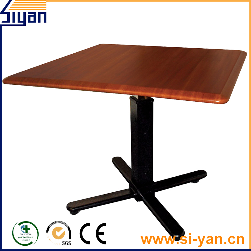 MDF wooden rotating top table
