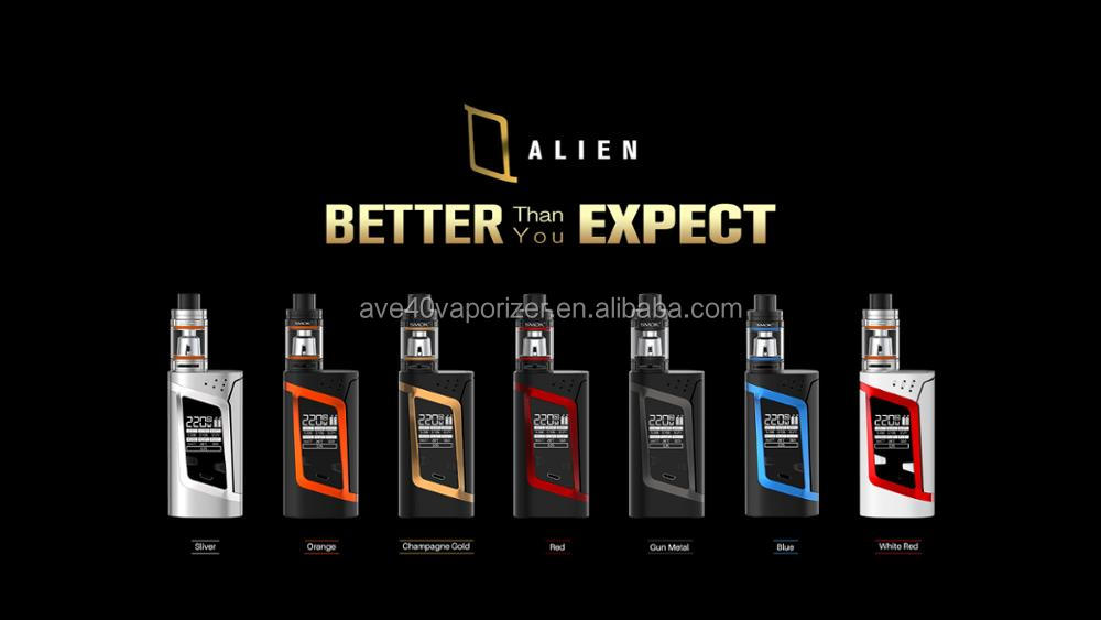 Ave 40 2017 new trending box Mod 220W Smok ALIEN Kit with TFV8 Baby Tank