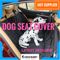 Dog Car Seat Hammock Cover with Safety Anchors Nonslip Backing Factory Direct Supplier