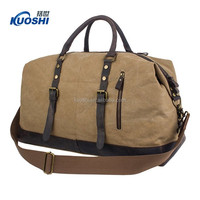 custom canvas travel duffel bag for men luggage