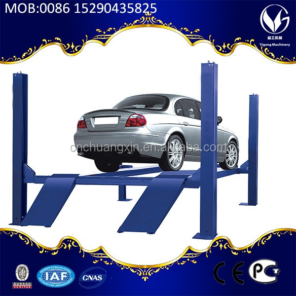 CE approved 4 post car lift for sale