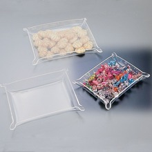 Clear Acrylic Candy Tray, Plastic Dessert Tray Snack Tray, Plexiglass Tray Candy Display Tray