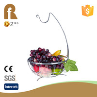 New fashion chromium-plate put fruit wedding gift fruit basket decoration