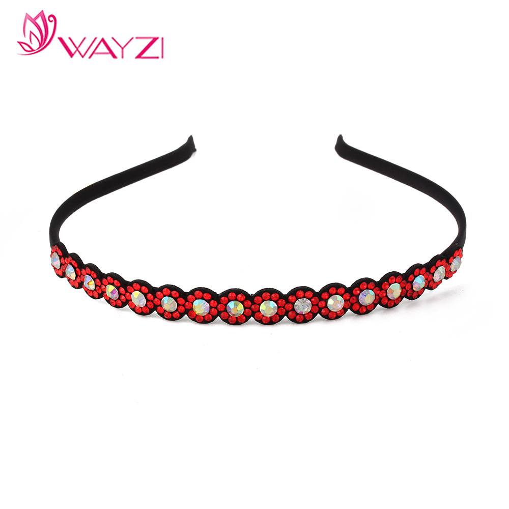 WAYZI brand custom colorful hair band clear plastic floral headbands fashion hairband