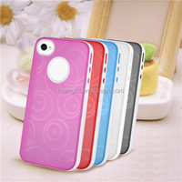 Colorful Transparent Soft TPU Case Cover For iphone 6 /6s with Free Screen Protector