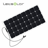 Letsolar off grid 18V 12V 100w solar panel with MC4 Connectors for Charging RV and Boat