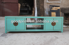 chinese antique furniture blue TV cabinet