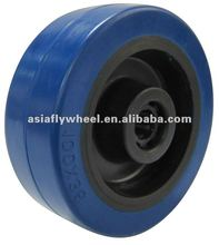 46 European type elastic rubber rubber caster wheel