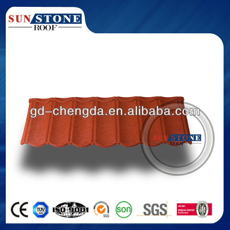 Big Or Small Sand Coated Metal Roofing Tiles / Popular Size