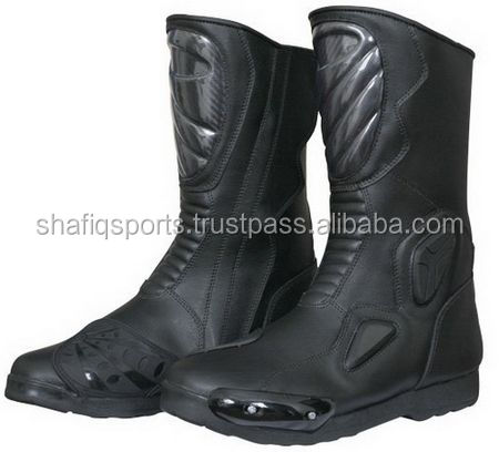 High Quality Sports Shoes Protective Leather Black Motorcycle Boots/ Motocross Shoes