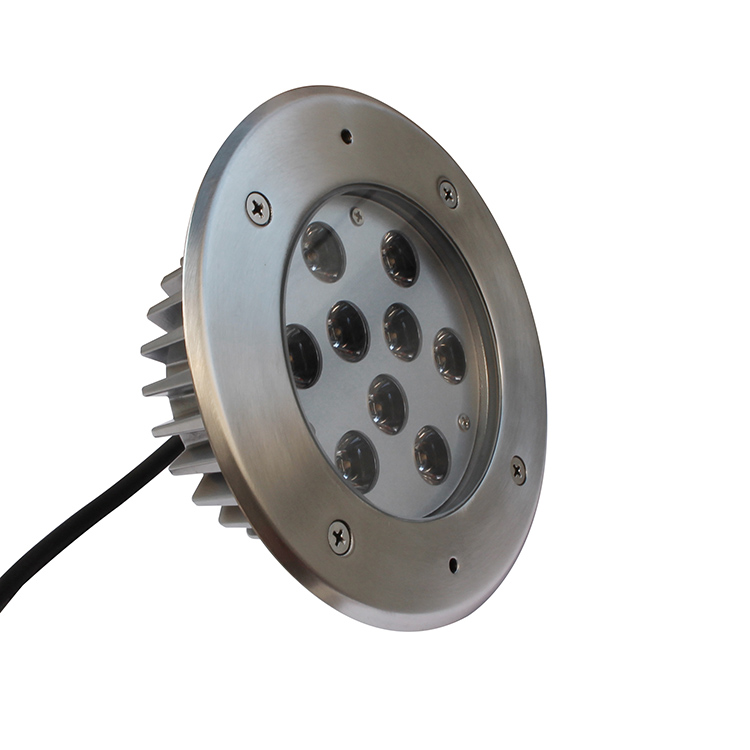 Professional outdoor led buried light with embedded prt ingroud lights