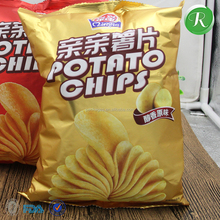Individuation food inflatable potato chips food packaging design bag