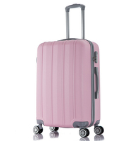 ABS Trolley Luggage with Four Double Spinner Wheels