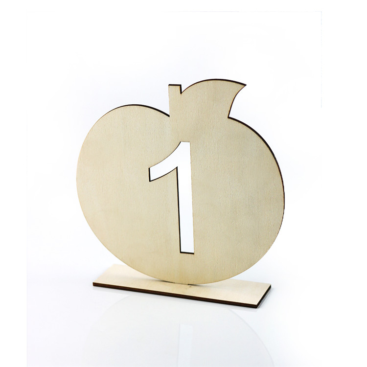 wholesale cheap unfinished wood wedding table numbers
