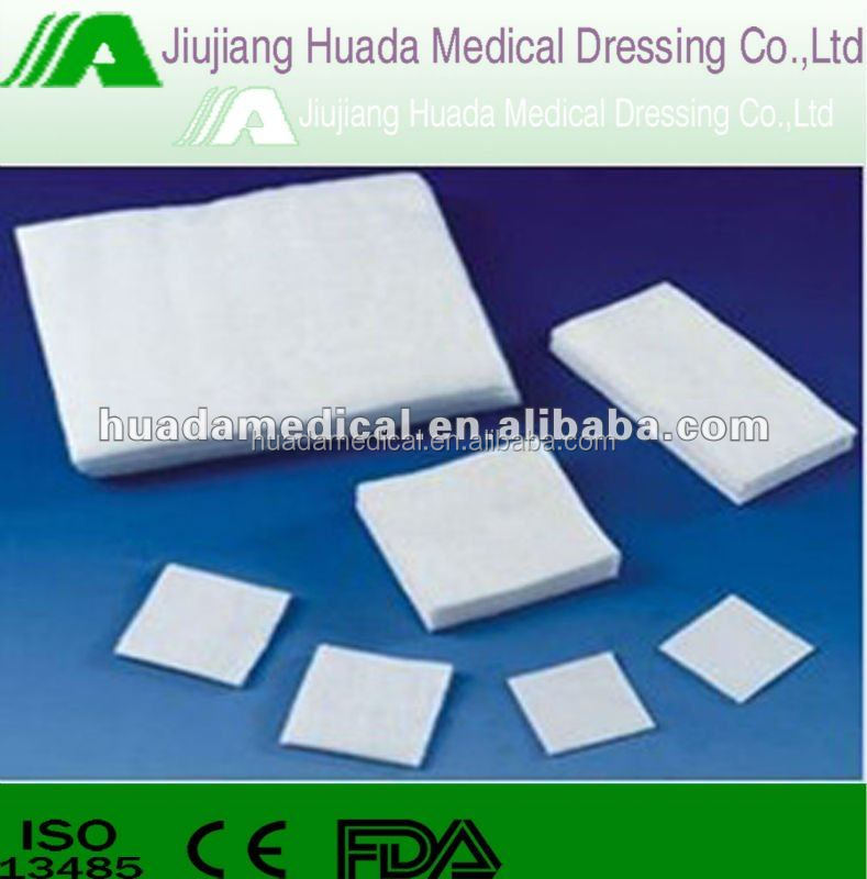 CE FDA ISO approved detectable x-ray gauze swab supply , wound dressing gauze swab