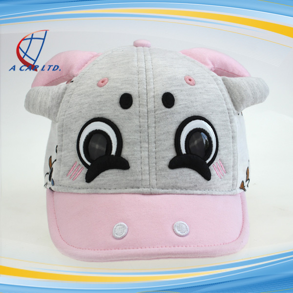 6 Panels Baseball Hats Cartoon Cow Cotton Caps For Sale