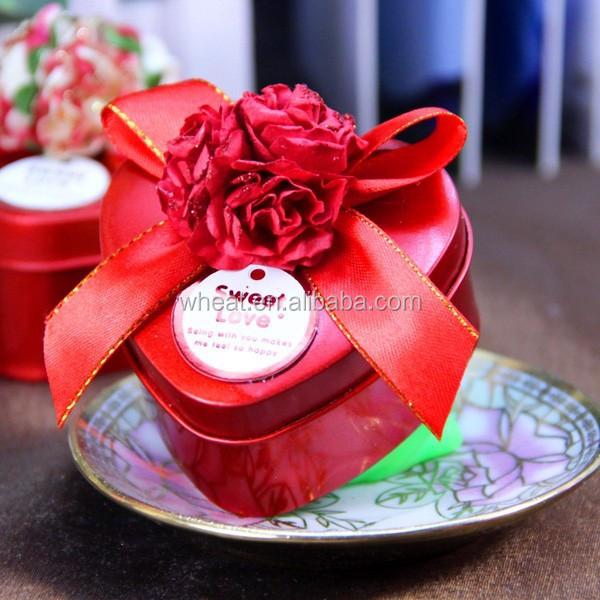 Wedding Gift Heart Shape Mini Candy Tin Box