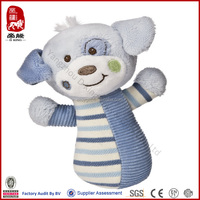China manufacturer wholesale stuffed puppy educational toy baby product rattle toy