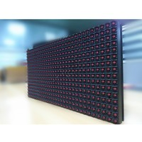 Portable single Color HD xxx Video Indoor/outdoor P10 IR LED Display Module