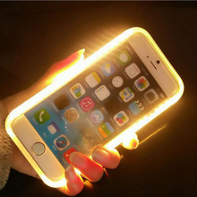 led selfie light up illuminated case for iphone 7 6 plus phone cover for iphone 7 plus double-flash cell phone case
