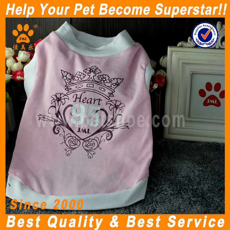 JML 2014 newest hot selling pink pet clothes for cat