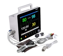 Multiple Parameter 12 inch Hospital and emergency Patient Monitor with fully accessories
