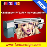 Heavy duty and strong body machine Challenger FY3278N 10ft/3.2m flex banner printing machine with 8 spt510 50pl heads
