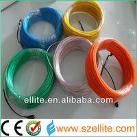 Lemon/Red/Yellow/Green/White/Blue/Purple/Pink 3M el usb cable wire