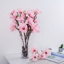 Wholesale cheap colorful pink orchids flower artificial magnolia flowers for wedding and indoor decoration