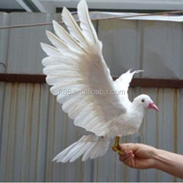 realistic bird wedding crafts artifical feather doves