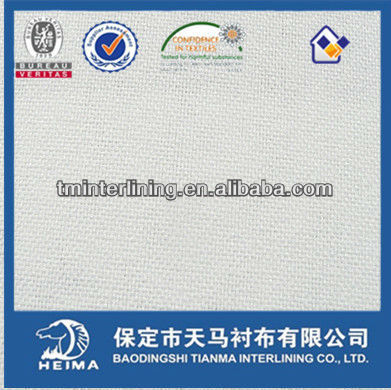 high class plain woven fusible interlining fabric for suit, uniform