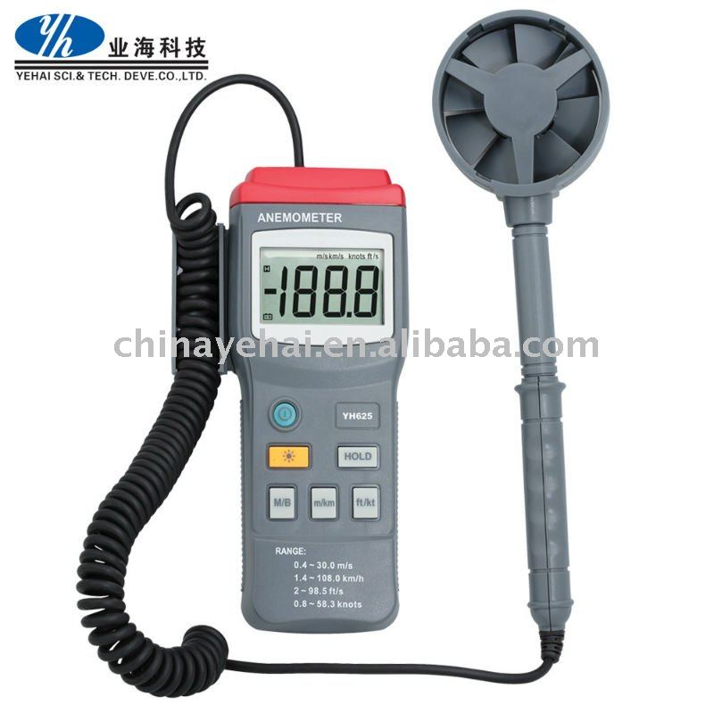 0.4 to 30.0 m/s Digital Anemometer Wind Air Velocity Meter Tester-YH2040
