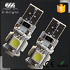 Car light bulbs led canbus lighting led t10 5050 5smd