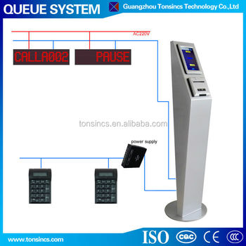 "New Stand 7"" Touch Screen Wireless Queue Management System"