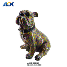 Artificial Mini Dog Animal Figurine Showpieces For Home Decoration