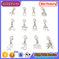 Hot Sale 12pcs of Set Alloy Zodiac Star Lucky Charm Wholesale #14211