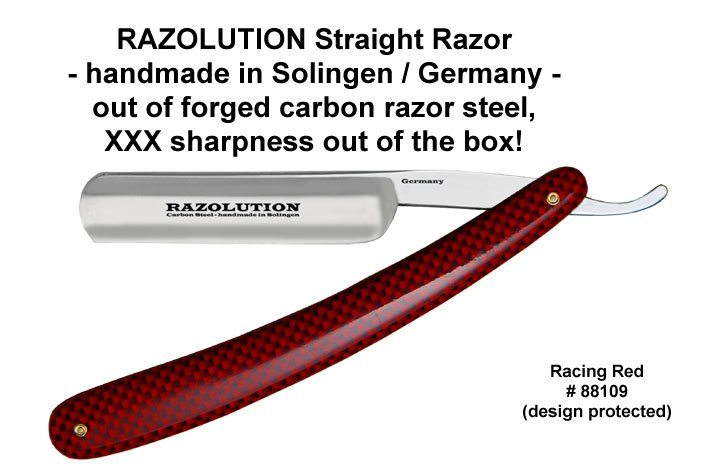 RAZOLUTION Racing Red razor